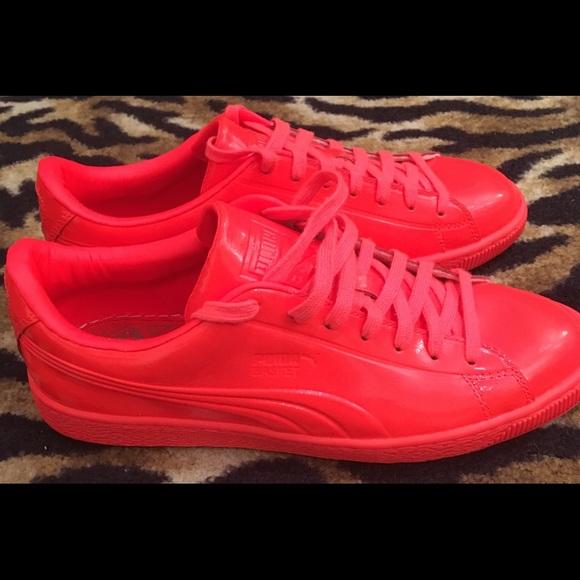 size 40 d0921 30edb Puma Basket Size 9 Mens Orange Shoes New NWT